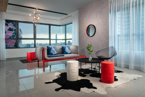 A seating area at Arte Plus by Afflexia Serviced Suites KLCC