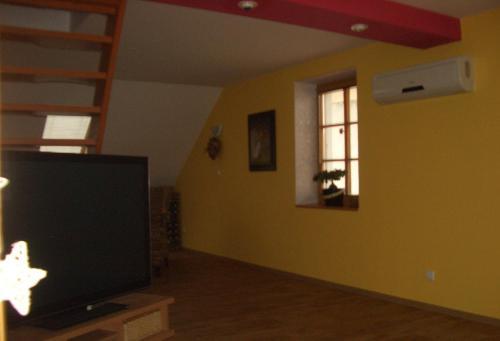 TV a/nebo společenská místnost v ubytování Apartment Mikulov, Husova Ulice