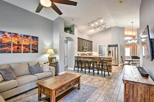 A seating area at Mickey's Landing - Luxury 5 Star Family 4 Bedroom with Pool, Hot Tub, Games Room & BBQ,5 Mins Disney