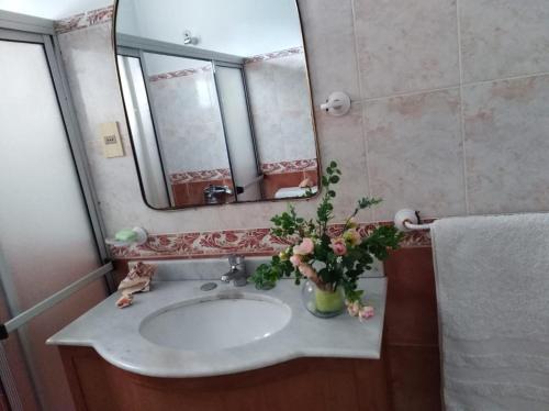 A bathroom at Big central house