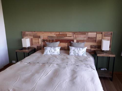 Una cama o camas en una habitación de Patagonia suite