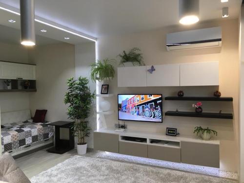 Телевизор и/или развлекательный центр в Status Apartment in Aleksandrov