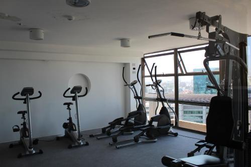 Gimnasio o instalaciones de fitness de Providencia Town Apartament