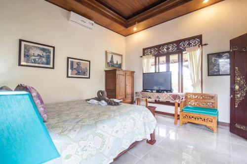 Katil atau katil-katil dalam bilik di Gardenia Gardens/ubud/best Breakfast In Bali!