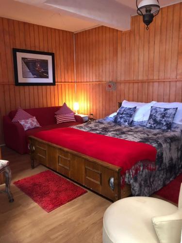 Cama o camas de una habitación en Habitacion interior