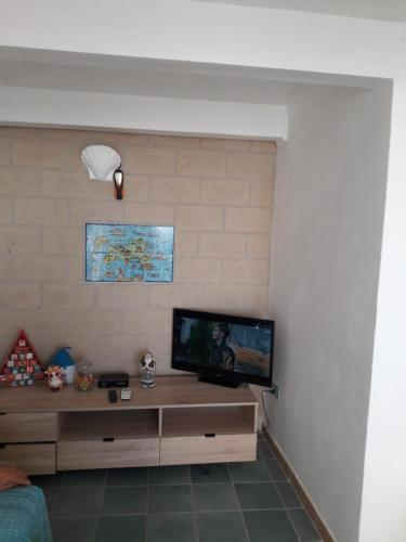 A television and/or entertainment center at La Casa di Titina