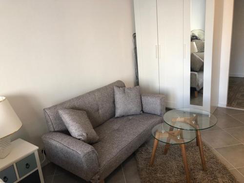 Ein Sitzbereich in der Unterkunft Stil und Komfort! Deluxe Apartment!