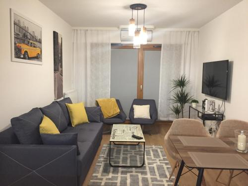Istumisnurk majutusasutuses Apartamenty Bulwary Książęce