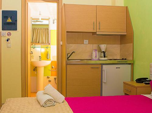 Η κουζίνα ή μικρή κουζίνα στο Anthena Studios