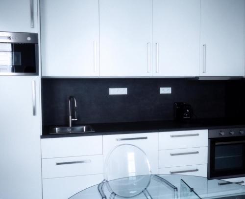 Kuchyň nebo kuchyňský kout v ubytování Apartmány Mia Valtice