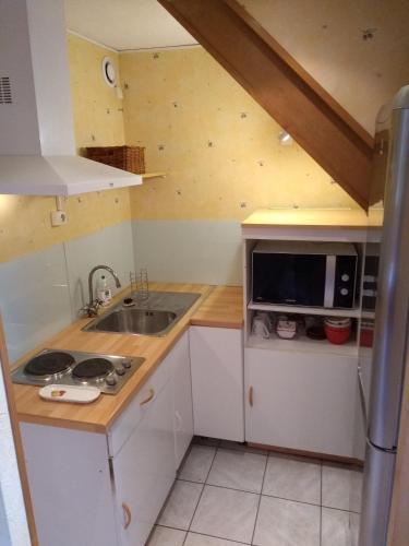 A kitchen or kitchenette at T1Bis Central Blagnac