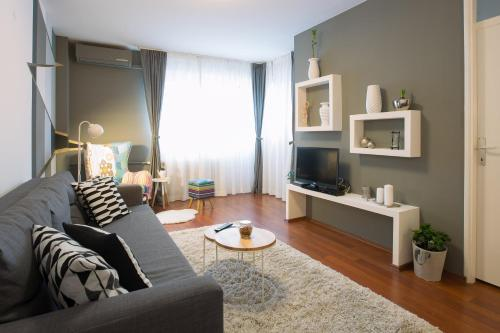 A seating area at Apartment Ciglica