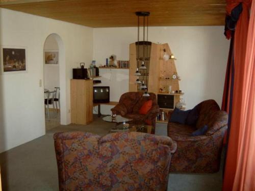 Ein Sitzbereich in der Unterkunft Ferienwohnung Jugl
