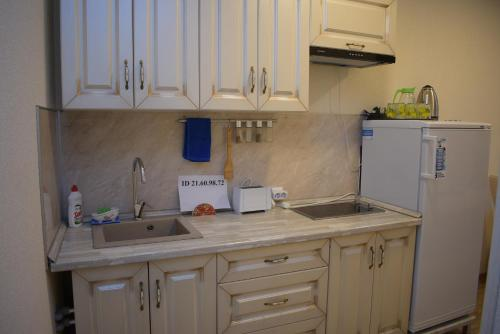 A kitchen or kitchenette at Apartments Rose Del Mare