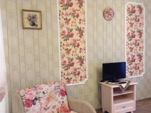 Телевизор и/или развлекательный центр в Rauschen Apart Hotel