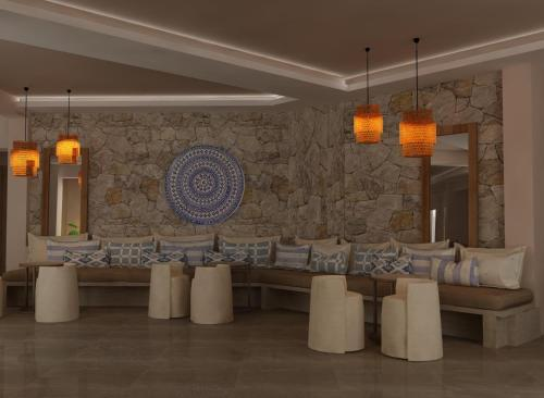 A restaurant or other place to eat at Asteris Village