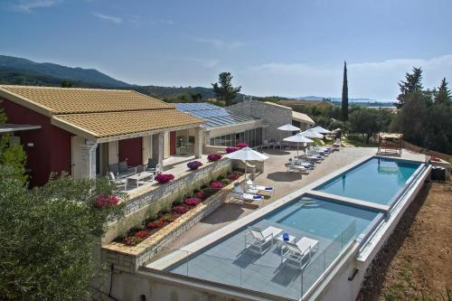 A view of the pool at Luxury Villa Aphrodite or nearby
