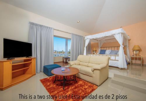 Zona de estar de Isla Mazatlan Residence Club