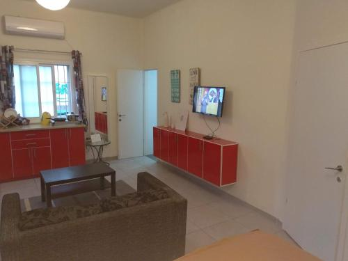 A television and/or entertainment center at Amir's Apartments