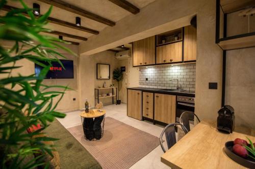 Küche/Küchenzeile in der Unterkunft ThessCityLiving