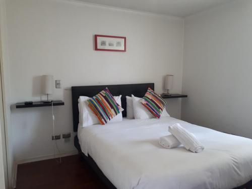 Cama o camas de una habitación en Rest Santiago