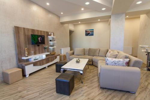 Гостиная зона в Old Tbilisi Luxurious Apartment