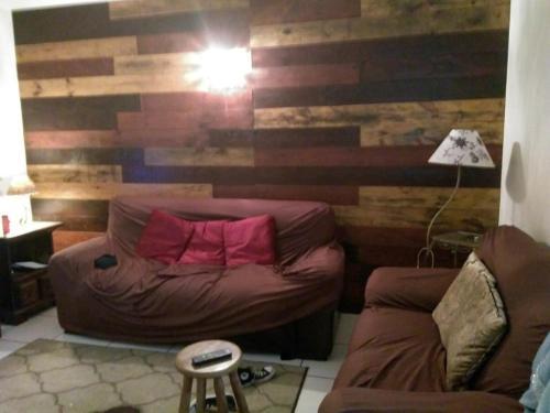Een zitgedeelte bij Residência 2 Dorms no Braga