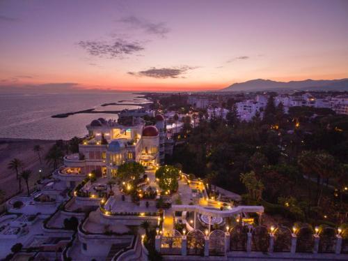 Een luchtfoto van Sky Villa