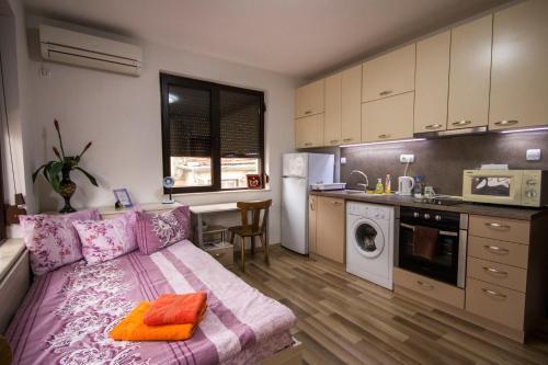 A kitchen or kitchenette at Julius Apartment near center