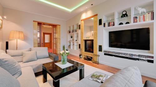 Area soggiorno di Dom & House - Apartment Haffnera Supreme Sopot