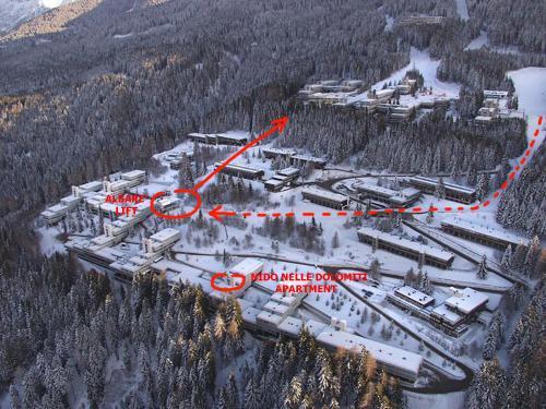 A bird's-eye view of Nido nelle Dolomiti Apartment