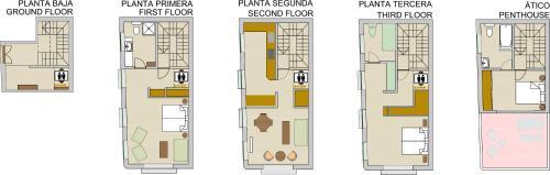 The floor plan of Casa Torre Giralda