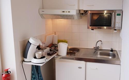 Een keuken of kitchenette bij Apartment Waldeck Bastion