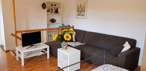 Een zitgedeelte bij Apartment Waldeck Bastion