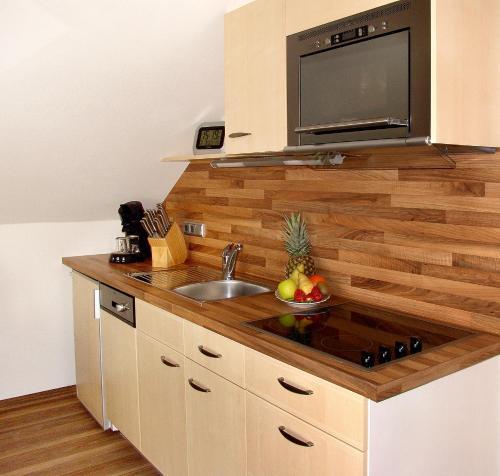 Küche/Küchenzeile in der Unterkunft Fellhornhaus Ferienwohnungen