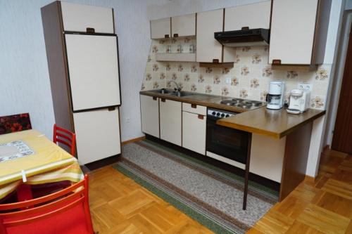 A kitchen or kitchenette at Pension Sonnenblume
