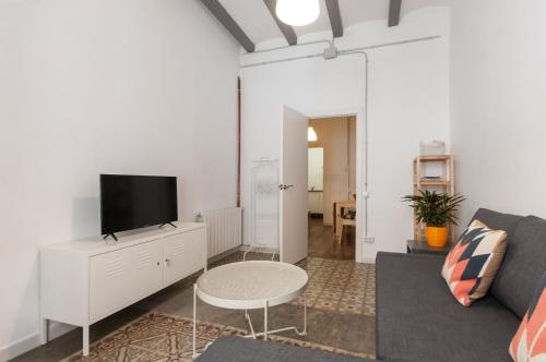 A television and/or entertainment center at Comfortable Cozy Apartment for Groups in Gracia