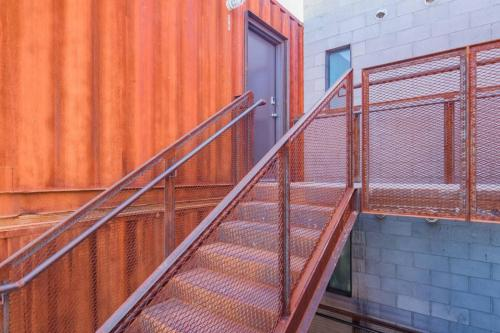 A balcony or terrace at 1BR Converted Cargo Container #303 by WanderJaunt