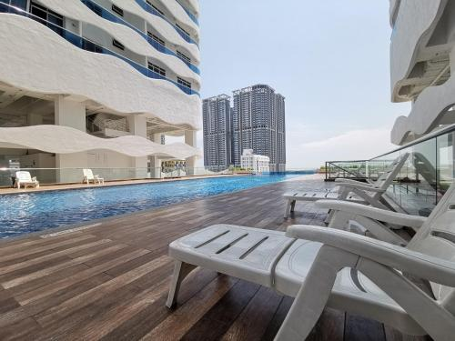 The swimming pool at or near Exclusuite The Wave Comfy Home @ Malacca