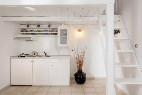 A kitchen or kitchenette at Nefeli Sunset Studios