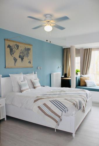 Ein Bett oder Betten in einem Zimmer der Unterkunft B&B Villa Verde