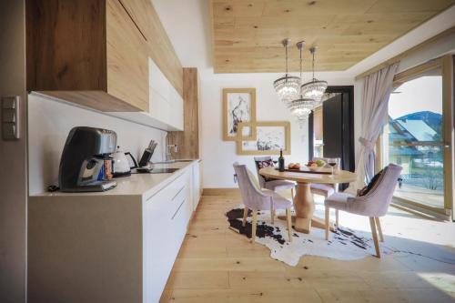 Kuchyň nebo kuchyňský kout v ubytování OLI Apartments-Bertolli
