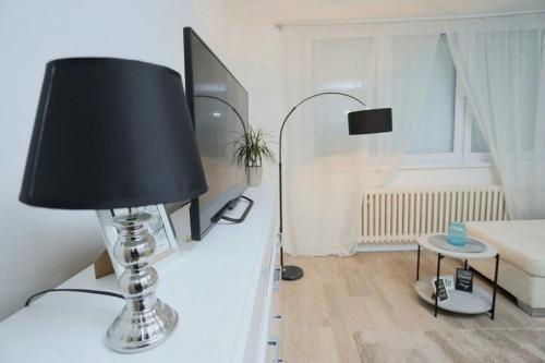 Televiisor ja/või meelelahutuskeskus majutusasutuses Apartman City Lux
