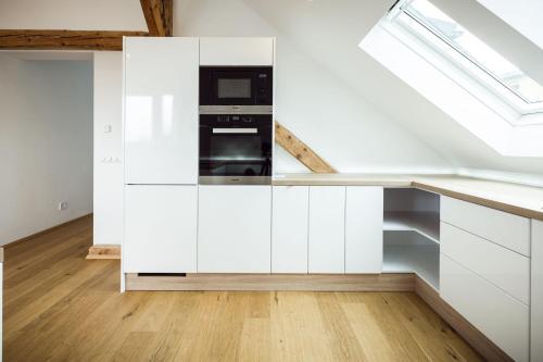 Küche/Küchenzeile in der Unterkunft Exclusive Penthouse Idomeneo