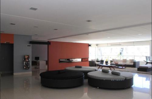 The lobby or reception area at Apartamento Veredas do Rio Quente - 919