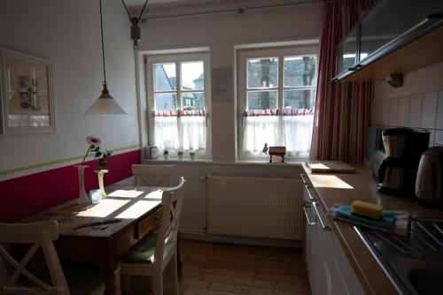 Küche/Küchenzeile in der Unterkunft Das Fischerhaus