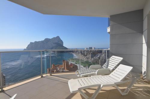 Balkón alebo terasa v ubytovaní Apartamentos Entremares