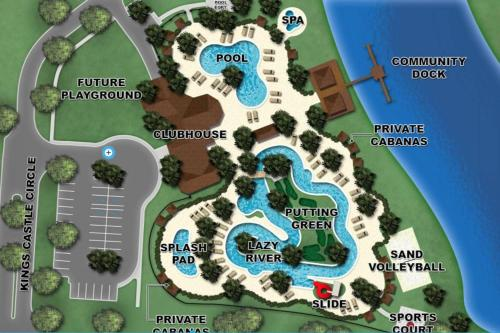 A bird's-eye view of C - New 4 Bedroom Home - 5 Miles to Disney - Free Water Park - Private Pool
