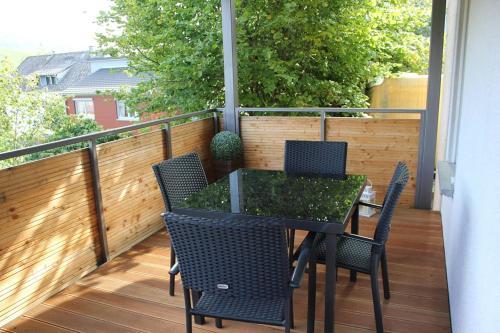 Ein Balkon oder eine Terrasse in der Unterkunft Ferienwohnung Laurent