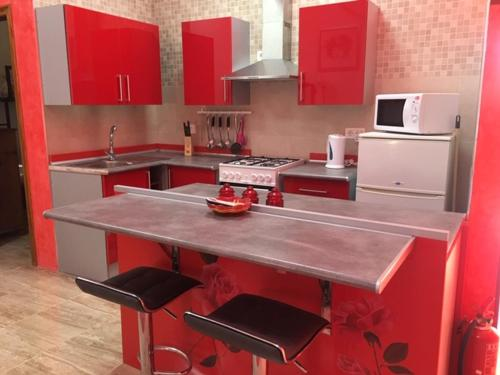 A kitchen or kitchenette at Fortuna leisure retreat